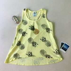 Tops - Knitted Pineapple Tank Top